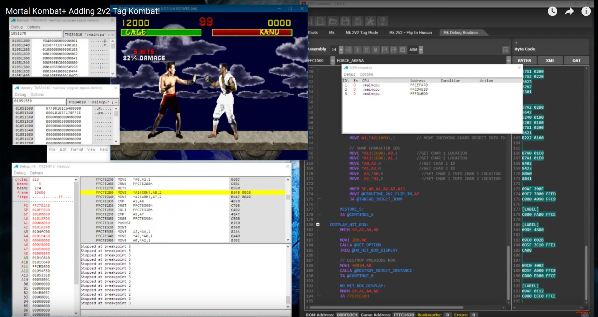 Mortal Kombat Arcade 4-Player Tag Mode