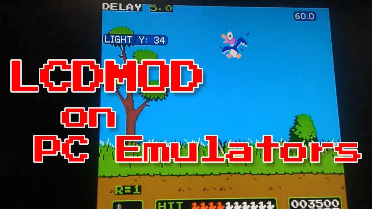 LCDMOD Demo's Zapper on PC Emulator