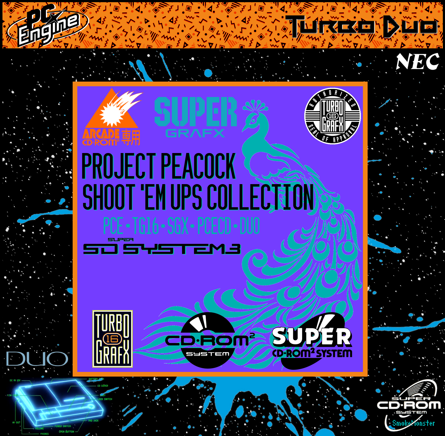 Project Peacock 2.0: Every Shoot 'em Up for the PC Engine Platform (CD, PCE/TG16, SGX)