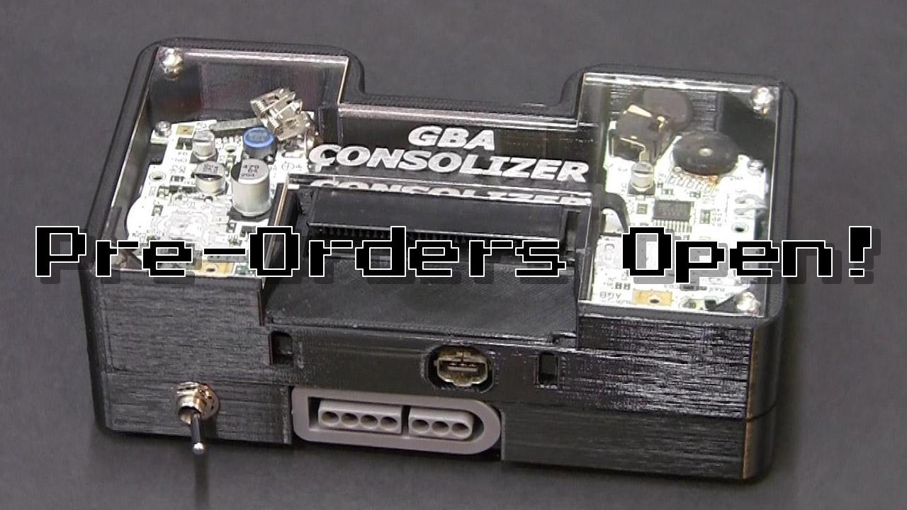 GBA Consolizer Pre-Orders Open!