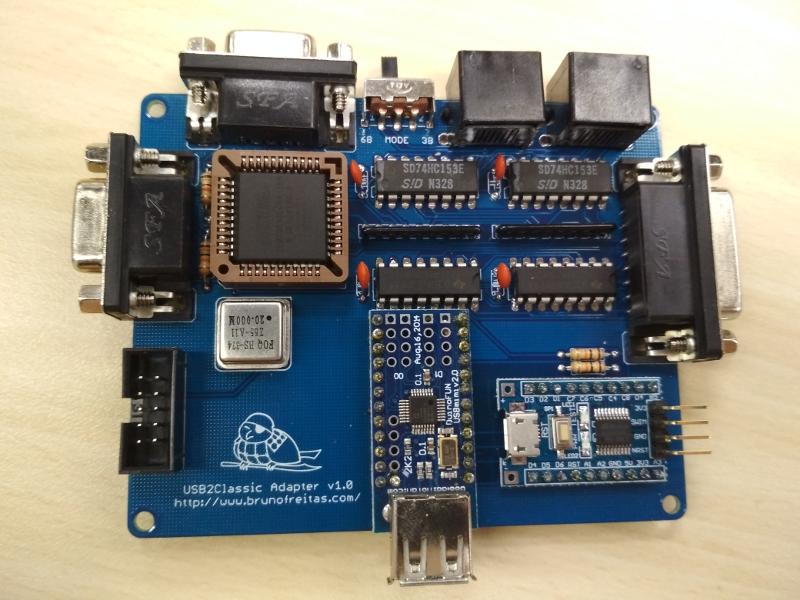USB2Classic Input Board by Bruno Freitas