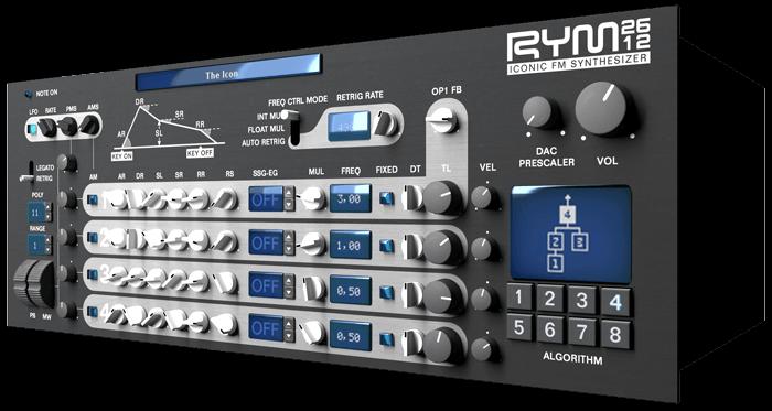 "RYM2612 Iconic FM Synthesizer ""Synth of Rage"""