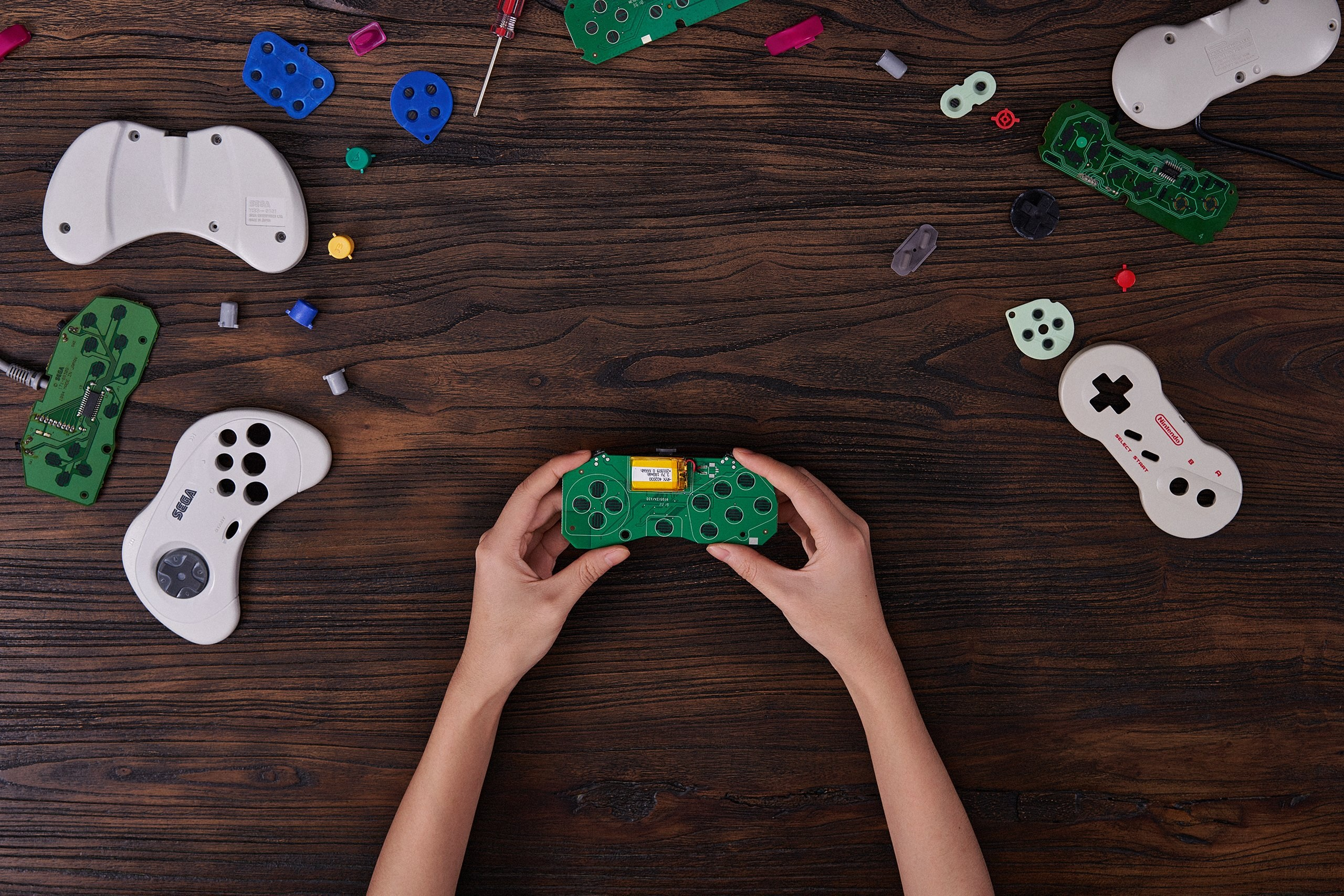 8BitDo DIY kits for Saturn and Nintendo Dogbone controllers