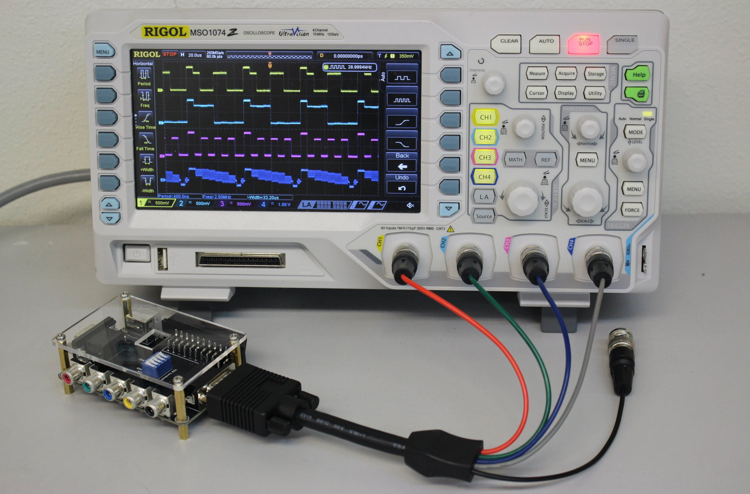RGBench – Oscilloscope Video Interface Device