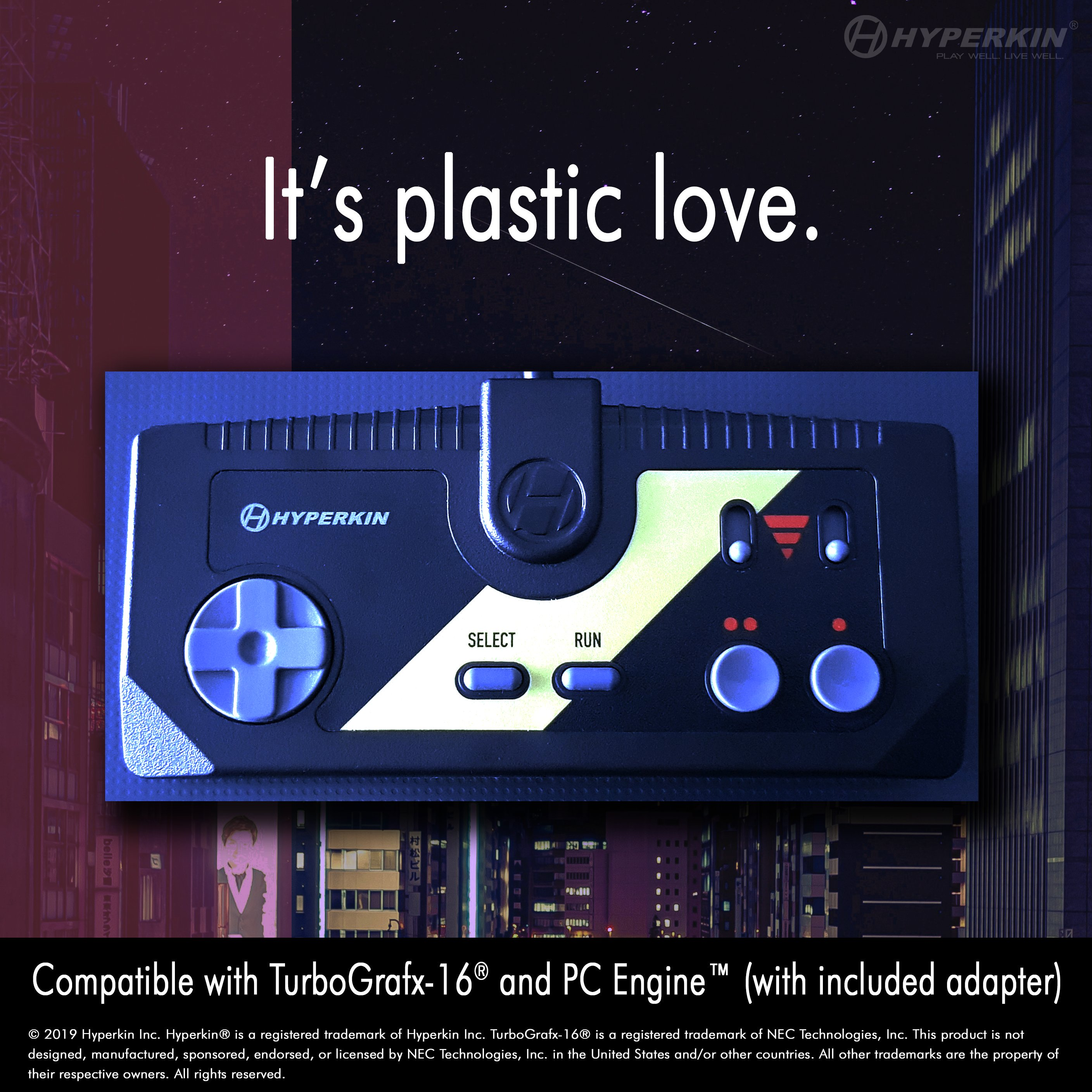 Specialist controller for TG16/PC-Engine by Hyperkin