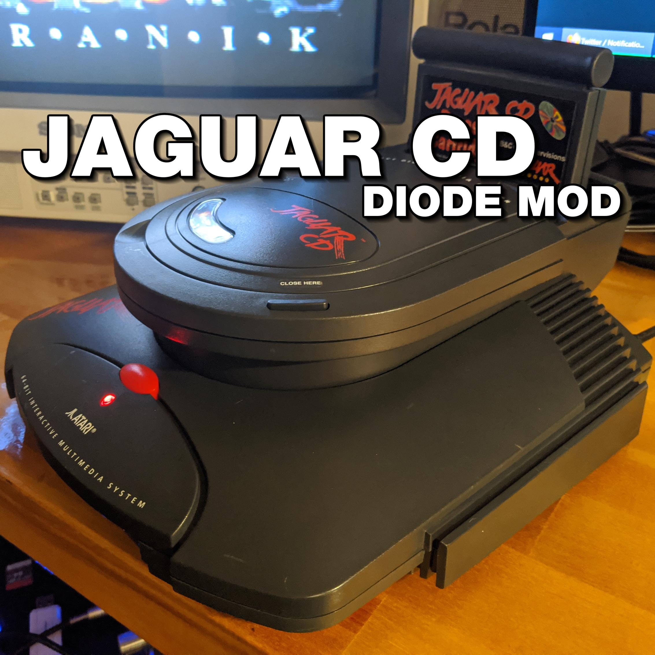 Atari Jaguar CD: Reverse Polarity Protection Diode Fix