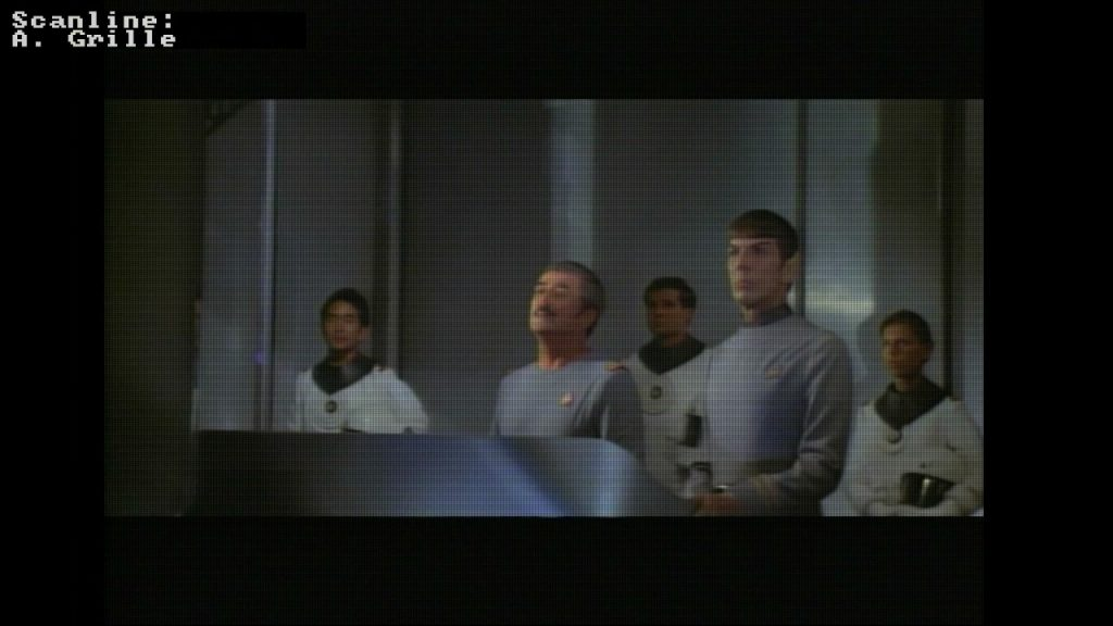 Aperture grille on top of a scene from Star Trek I