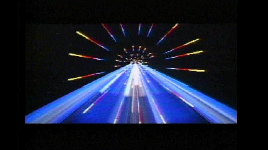 the Starship Enterprise zooms into the future