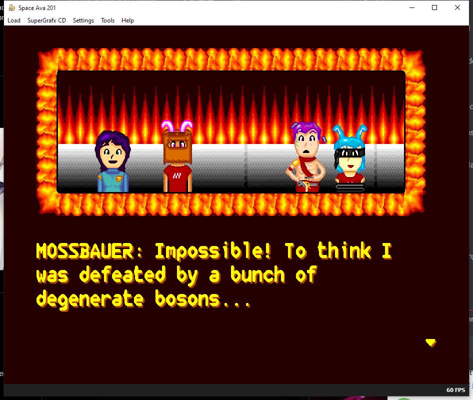 A smoothing upscaling filter on the dialogue scene
